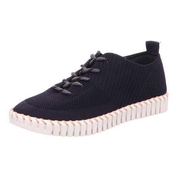 La Strada Damen-Schnürhalbschuh Sneaker Blau