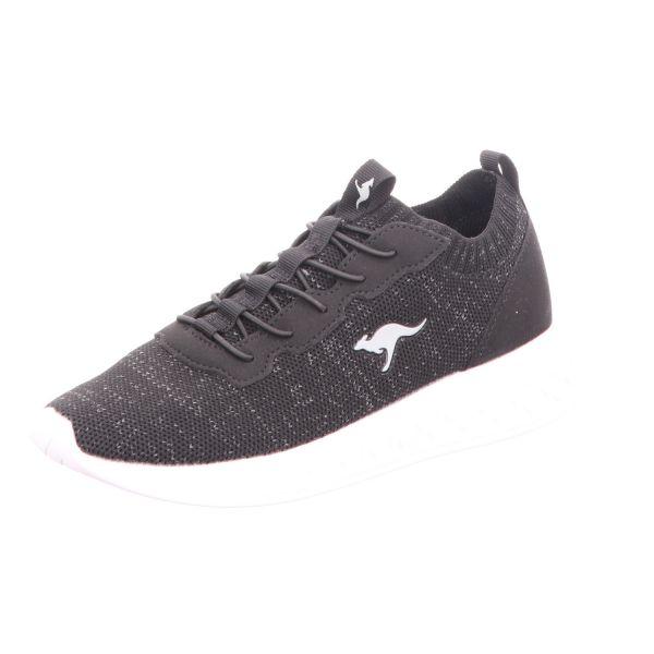 KangaROOS Jungen-Slipper-Sneaker Schwarz-Grau