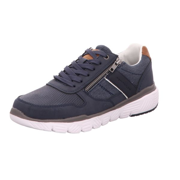 Tom Tailor Herren-Sneaker-Schnürhalbschuh Blau