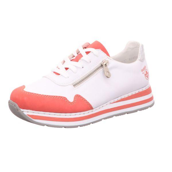 Rieker Damen-Sneaker Weiß-Pink