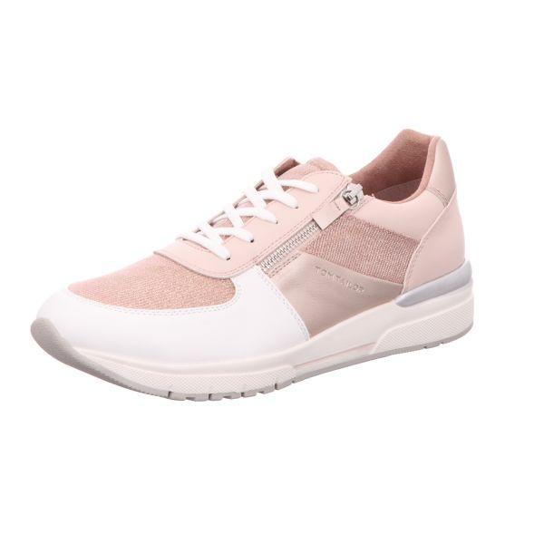 Tom Tailor Damen-Sneaker-Schnürhalbschuh Pink-Weiß