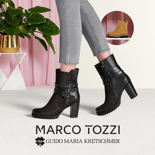 MARCO TOZZI by GMK Damen-Stiefelette Schwarz