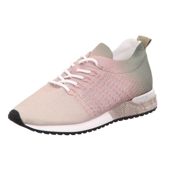 La Strada Damen-Sneaker-Schnürhalbschuh Laced up knitted sneaker Beige