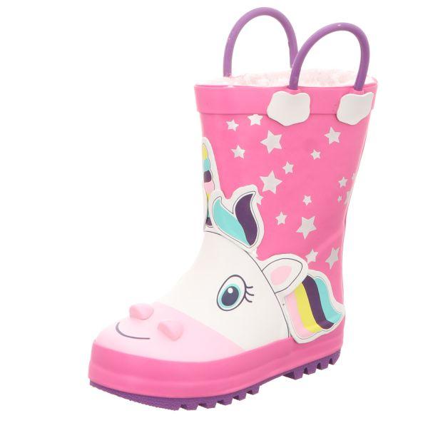 Sneakers Kinder-Gummistiefel Einhorn Pink