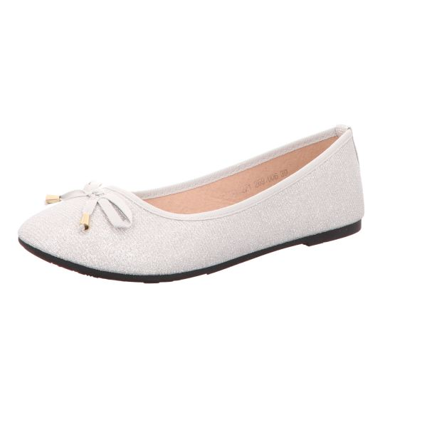 living UPDATED Damen-Ballerina Silber-Grau
