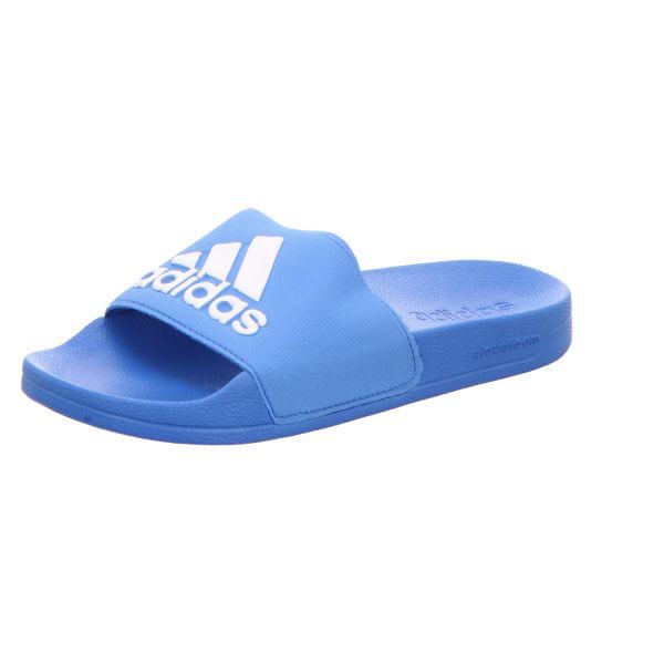 Adidas Herren-Badepantolette Adilette Shower Blau-Weiß