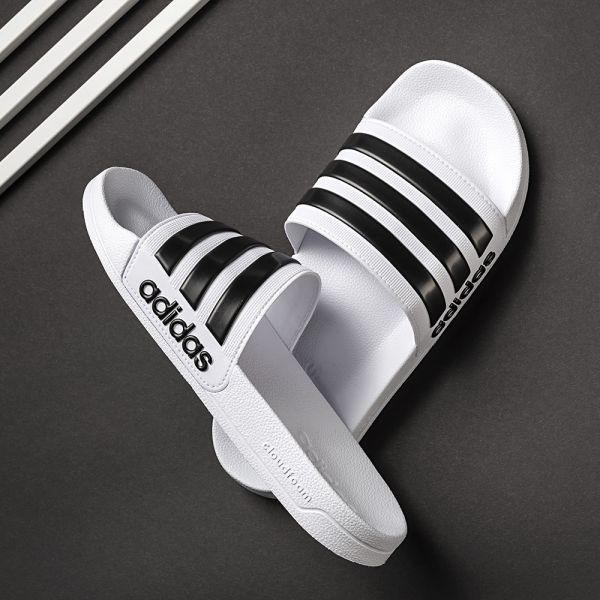 Adidas Herren-Badepantolette Adilette Shower Weiß