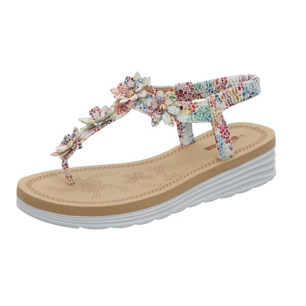 living UPDATED Damen-Sandalette Weiß-Multi