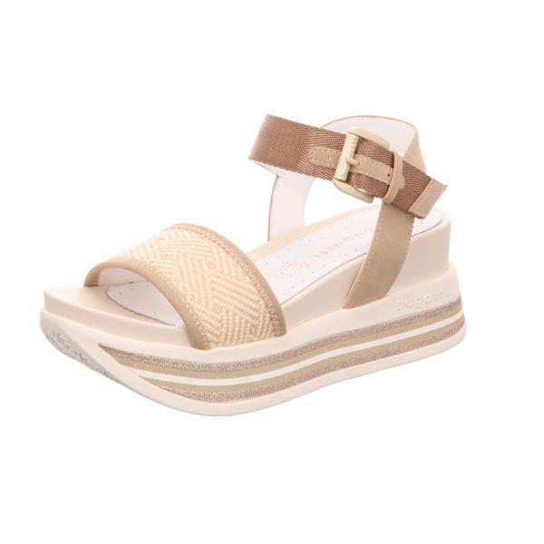 Bugatti Damen-Sandalette mit Keilabsatz Jil Beige-Braun
