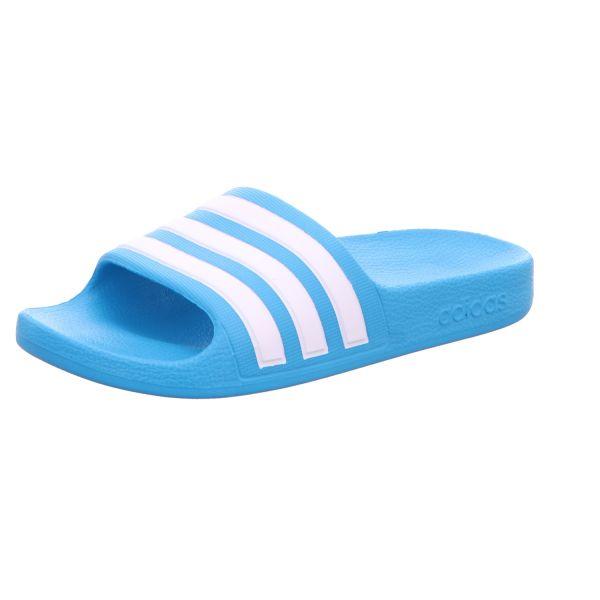 adidas Kinder-Badepantolette adilette Aqua K Hellblau-Weiß