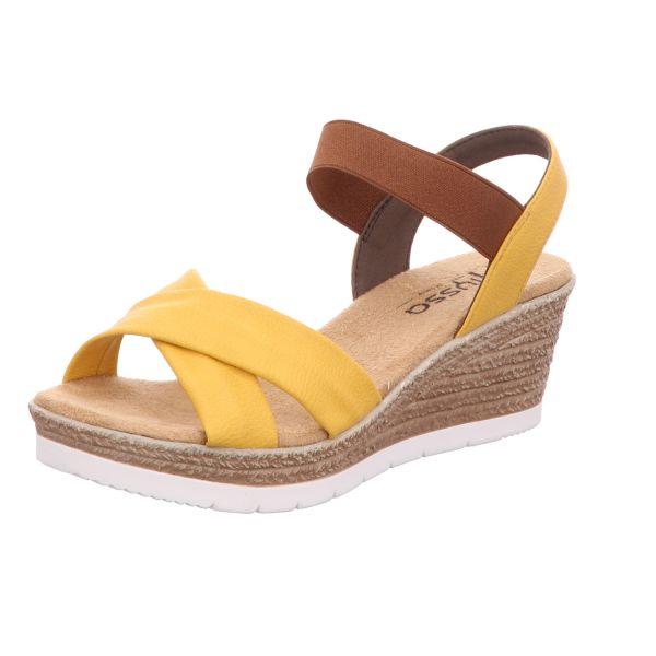 Alyssa Damen-Sandalette Gelb