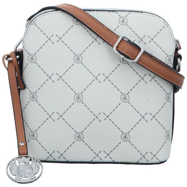 Jewels of Style Damen-Reißverschlusshandtasche Hellbeige
