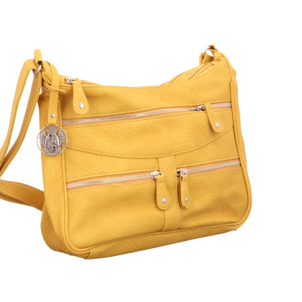 Jewels of Style Damen- Schultertasche Gelb